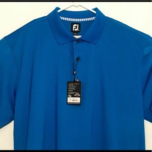 New Footjoy Polo Golf Shirt Cobalt Blue Mens XXL